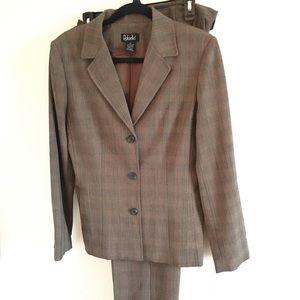 Rafaella Light Brown Blazer/Pants Size 10